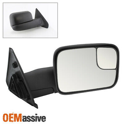 $47.96 • Buy Fit 2002-2008 Dodge Ram Passenger Manual Rotatable Towing Trailer Side Mirror