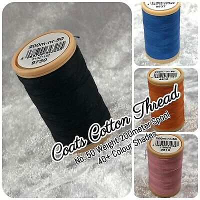 £3.70 • Buy Coats Cotton Sewing Thread - No. 50 Thickness - 200m Spool - 40+ Colours