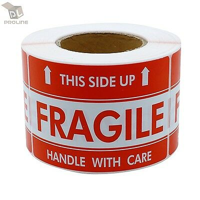 $8.95 • Buy 500 Labels 2x3 FRAGILE This Side Up Shipping Mailing Handle With Care Stickers
