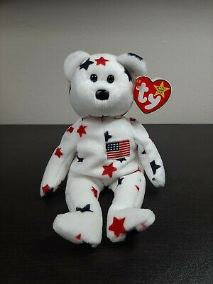 $510 • Buy Ty Beanie Baby Glory Bear - (USA Stars Teddy Bear)  RARE