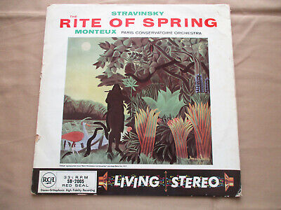 Stravinsky The Rite Of Spring Paris Conservatoire Orchestra 1958 Rca Stereo Lp • 30£