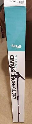 Stagg MIS-1022BK Microphone Boom Arm Stand Black - Excellent Condition • 10£
