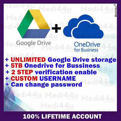 $ CDN9.36 • Buy ⭐️GOOGLE DRIVE UNLIMITED STORAGE + OneDrive For Business 5TB + Office365 Forever