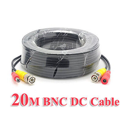 AU15.90 • Buy 20m BNC Video DC Power Supply Extension Cable Lead For CCTV Security Camera DVR