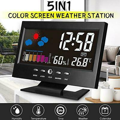 Projection Digital Alarm Clock Snooze Weather Thermometer Display LED LCD X0Q4 • 5.94£