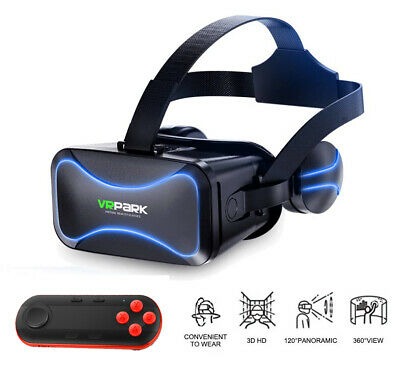 AU43.99 • Buy 3D Glasses VR Headset Virtual Reality Goggles Box With Remote For IPhone Android