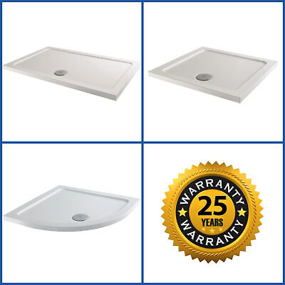 Shower Tray Enclosure Slimline Square Rectangle Quadrant Wet Room FREE Waste • 74.99£