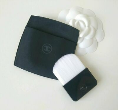 Genuine Chanel Sublimage Mask Application Brush & Matte Black Pouch Brand New • 15£