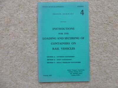 British Railways Instructions For Loading & Securing Containers On Rail Vehicles • 5.99£