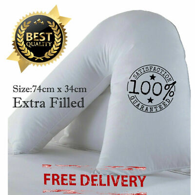 V Shaped Pillow Extra Filled Back Support Orthopedic Pregnancy Nursing Maternity • 6.89£