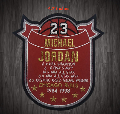 AU25.77 • Buy Michael Jordan Stat Patch Chicago Bulls Basketball Jersey Un Signed MJ