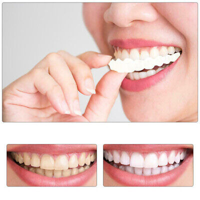 $6.99 • Buy 2PCs Smile Snap On Teeth Fake Upper Lower Cosmetic Tooth Cover False Dentures
