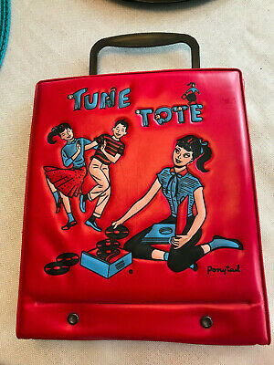 $48 • Buy Vintage  Tune Tote  By Ponytail -1950's 45 Rpm Record Holder W/handle