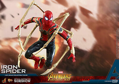 $389.95 • Buy Hot Toys 1/6 IRON SPIDER FIGURE MMS484 Spider-Man Infinity War Avengers