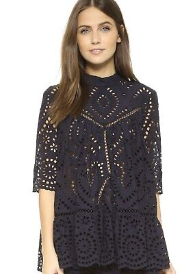 AU69.61 • Buy Zimmermann Harlequin Broderie Blouse Size 0