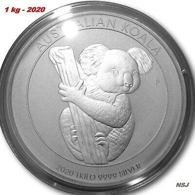 AU1729 • Buy 2020 Australian Koala 1kg 1 Kilo Silver Bullion Coin Perth Mint 99.99%