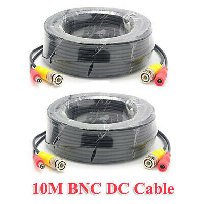 AU18.90 • Buy 10M BNC Video DC Power Supply Extension Cable For CCTV Security Camera DVR 2Pack