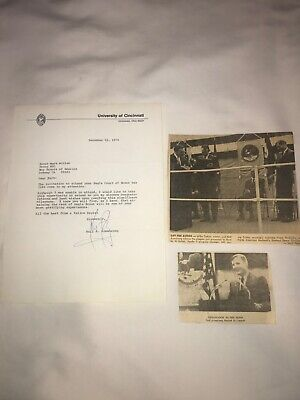 $6950 • Buy Neil Armstrong Signed Letter - 1974 - Plus 3 Newspaper Clippings