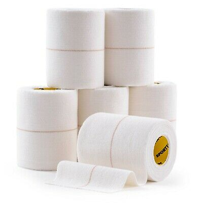 6 ROLLS - SPORTTAPE EAB (Elastic Adhesive Bandage) Rugby Sports Strapping Tape • 13.49£