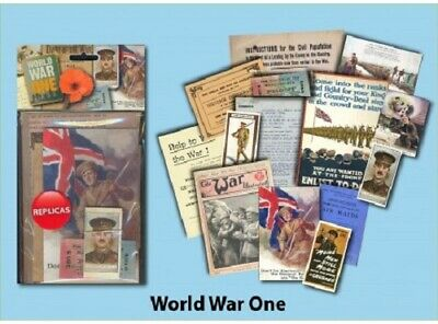£7.49 • Buy World War 1   Memorabilia Gift Pack With Over 20 Pieces Of Replica Artwork