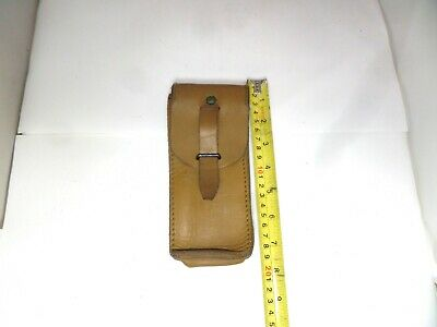 Vintage French Army Tan Leather  Ammo Pouch • 9.99£