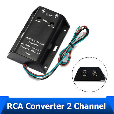 Car Stereo Audio RCA Speaker High To Low Level Line Output Converter & Wiring • 10.77£