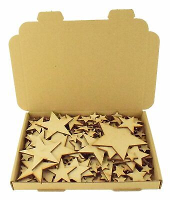 XL Clearance Wholesale Joblot Laser Cut Wooden MDF Love Stars Craft Shapes Wood • 4.99£
