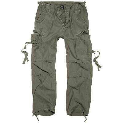 $53.39 • Buy Brandit M-65 Vintage Trousers Mens Army Combat Camping Cargo Pants Olive Green