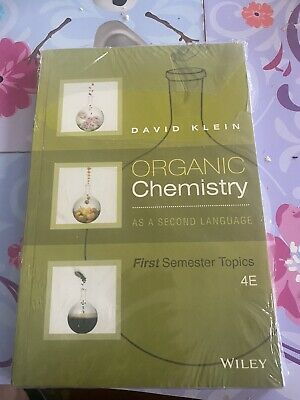 $19.95 • Buy Organic Chemistry As A Second Language : First Semester Topics By David R. Klein