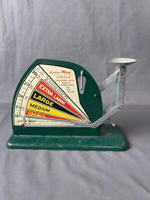 $49.99 • Buy Vintage Jiffy Way  Egg Metal Scale In Green Mgo