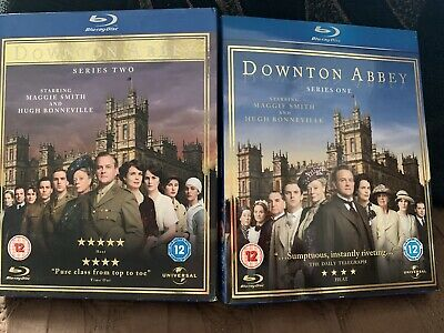 2 X Blu Ray Downtown Abbey Series One & Series Two Cert 12 Great Series. • 12£