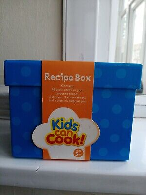 Recipe Box Kids Can Cook Brand New Pack Birthday Gift For Girl • 8.99£