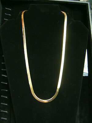 $300 • Buy 14k Yellow Gold Herringbone Necklace 22