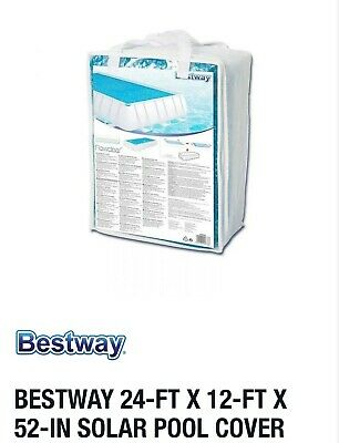 Bestway Solar Swimming Pool Cover, 24-ft X 12-ft X 52-in Fit Intex Summer Escape • 95.77£