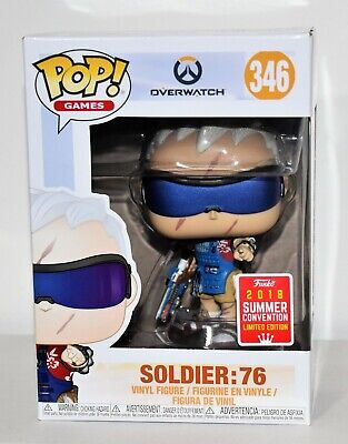 AU50 • Buy Overwatch Pop Vinyl Solider 76 #346 2018 Funko Summer Convention Limited Edition