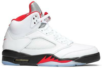 View Details Nike Air Jordan 5 Retro Fire Red Silver Tongue (2020) Authentic Mens New • 210.00$