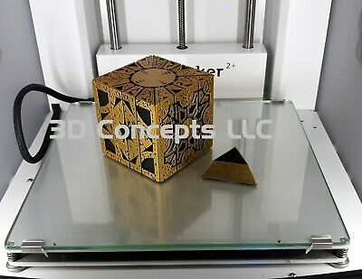 Hellraiser Cube Puzzle Box - Gold Over Black PLA With Small Stand • 34.59£