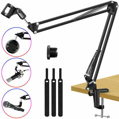 Broadcast Mic Desktop Microphone Suspension Boom Scissor Arm Stand Holder UK • 10.99£