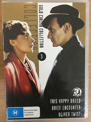 THIS HAPPY BREED / Brief Encounter / OLIVER TWIST 3 X DVD Set AS NEW! • 9.89£