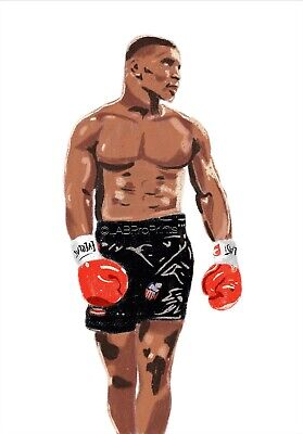 Mike Tyson Wall Art, Print, Gift, Home Decor, Poster -  Boxing A4 • 6.99£