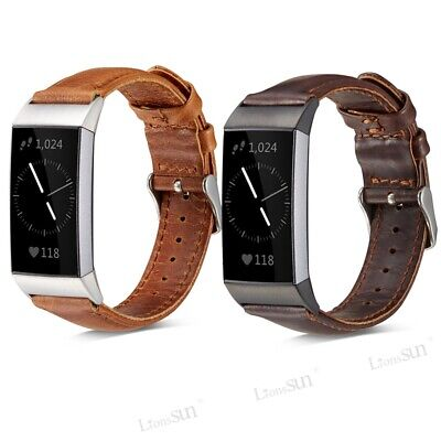 AU15.99 • Buy Replacement Genuine Leather Wristband Band Strap Bracelet Fr Fitbit Charge 2 3 4