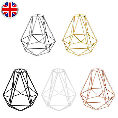 £13.99 • Buy Industrial Geometric Light Shade Metal Wire Frame Ceiling Pendant Lampshade UK