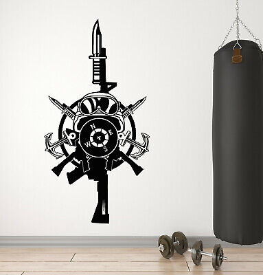 $21.99 • Buy Vinyl Wall Decal Military Special Forces Soldier Equipment Stickers (4297ig)