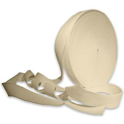 £3.99 • Buy Cream 25mm Cotton Webbing Tape Strapping 1 Inch Belt Strap Bag Making Apron