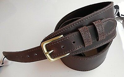 $ CDN52.91 • Buy Uk Made Distressed Brown Buckle 2.5  Wide Leather Acoustic Electric Guitar Strap