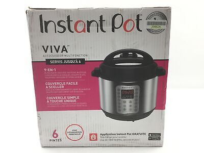 $50.96 • Buy Instant Pot Viva 6 Quart 9-in-1 Multi-Use Pressure Cooker With Easy Seal Lid And