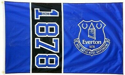 EVERTON FC LARGE FOOTBALL CLUB SINCE 1878 MAST FLAG OFFICIAL GIFT EFC 5ft X 3ft • 12.45£
