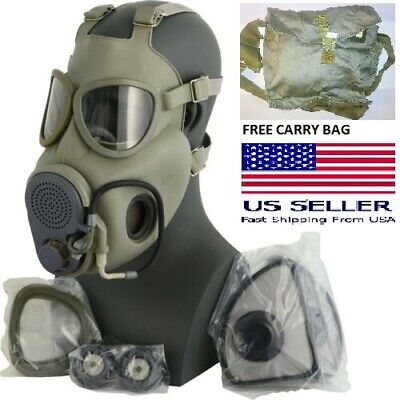 $49.99 • Buy Military Czech Full Face NBC Filters Gas Mask Respirator M10M Drinking Tube +Bag