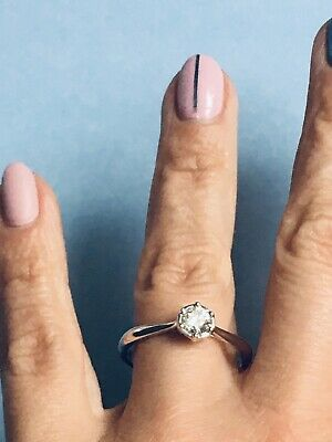 Enchanted 9ct White Gold 0.50ct Diamond Solitaire Ring Size U (rrp £1350) • 650£