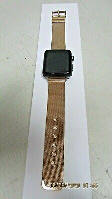 $ CDN173.33 • Buy  Apple Watch Rose Gold Band  Series 2 42mm GPS ION-X Glass WR-60M